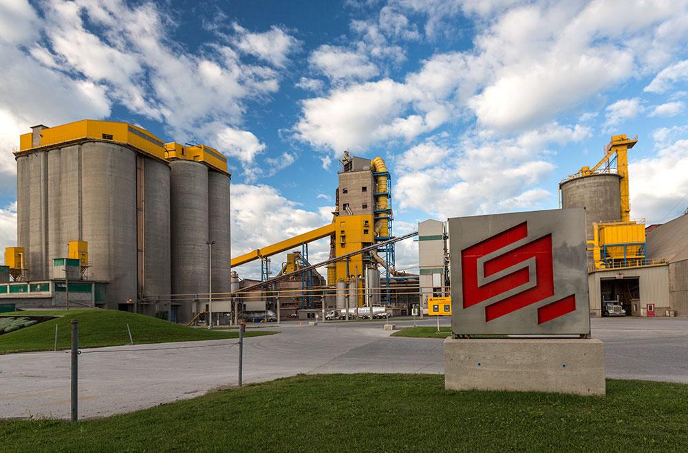 Ciment Québec inc. St-Basile, Qc.