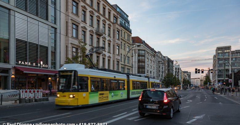 Rue de Berlin, secteur Mitte, Berlin Allemagne