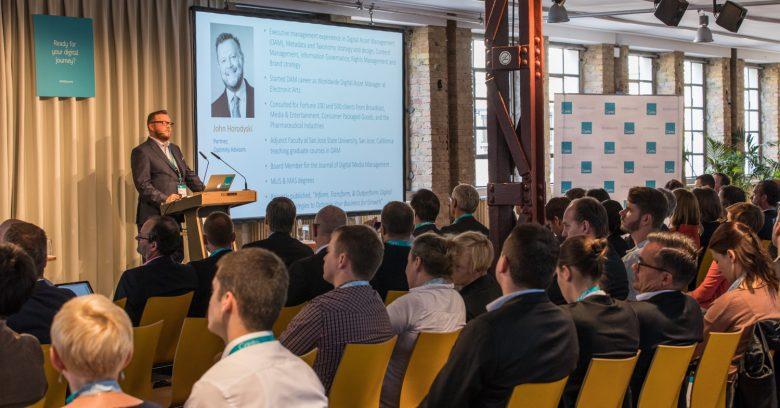 Présentation de John Horodyski sur les stratégies efficace du DAM. Dam Summit, Day1, Berlin, Allemagne